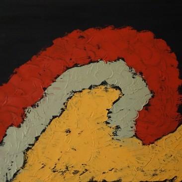 Thinking 30x40 cm Oil on canvas